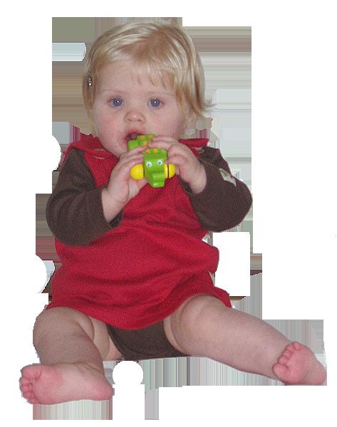 Tim&Teja hängselklänning baby 100% ekologisk bomull ekologiskt färgad röd