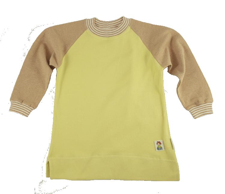 Minimundus pyjamas 2-delad gul och färgväxande Coloured by Nature ekologisk bomull