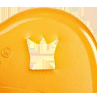 Heveababy napp av naturgummi naturell rund