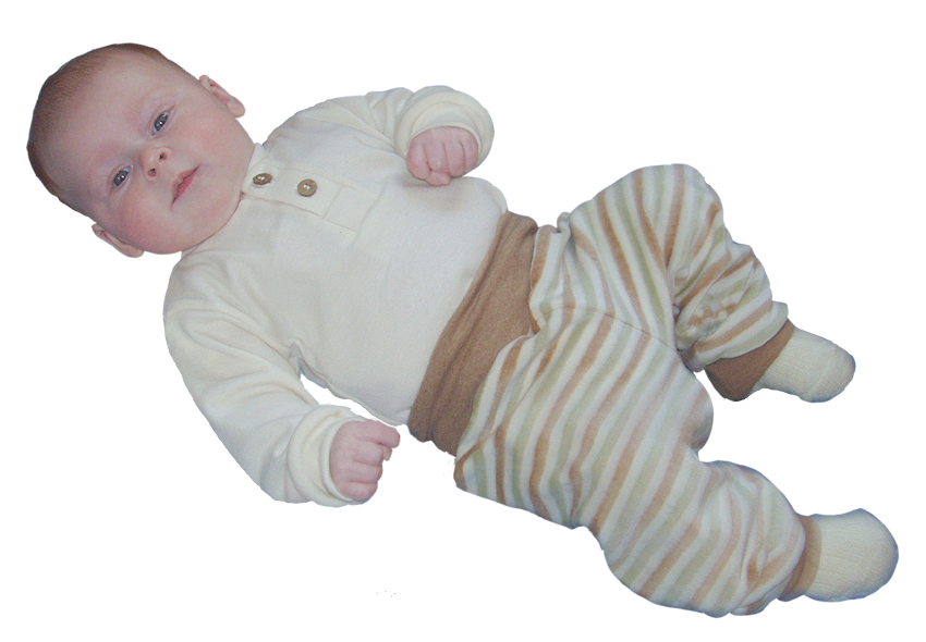 Minimundus baby midjebyxor velour av 100% Coloured by Nature