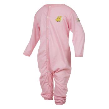 Janus LightWool baby jumpsuit merinoull rosa