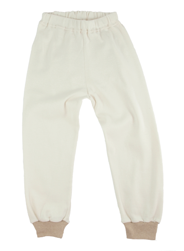 Minimundus 2-delad pyjamas naturvit ekobomull byxor