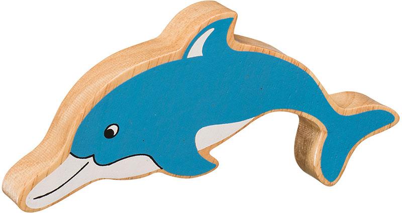 Delfin av gummiträ handgjord FairTrade Lanka Kade