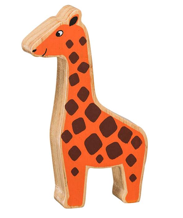Giraff av gummiträ handgjord FairTrade Lanka Kade