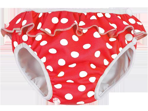 Imsevimse badblöja babysimbyxa Red Dots