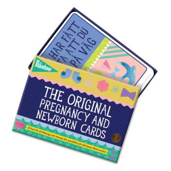 Milestone fotokort gravid och nyfödd
