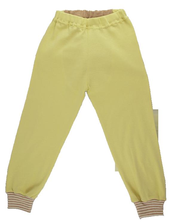 Minimundus 2-delad pyjamas gul och färgväxande ekobomull