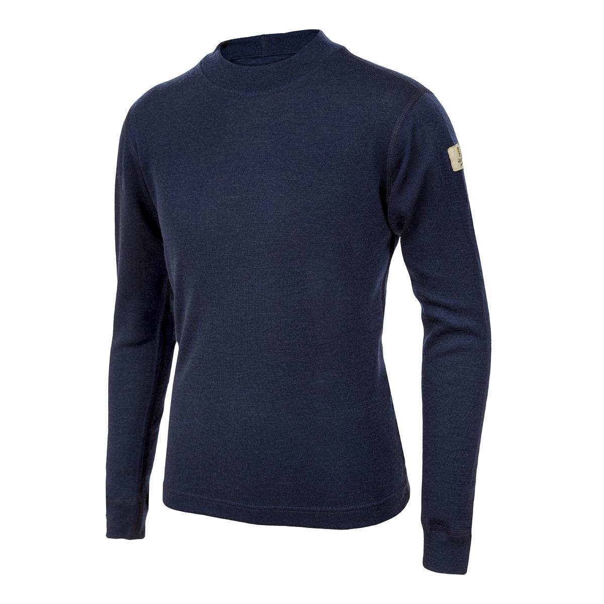 Janus DesignWool junior tröja med lång ärm 100% merinoull marinblå