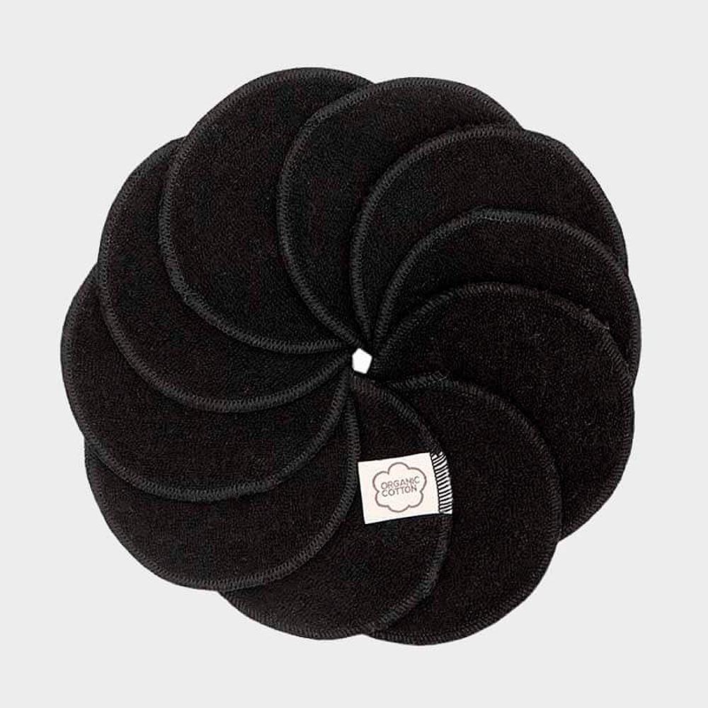 ImseVimse rengöringspads av ekologisk bomullsfrotté 10 st svarta