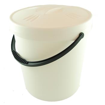 Blöjhink/Tvätthink med lock, vit