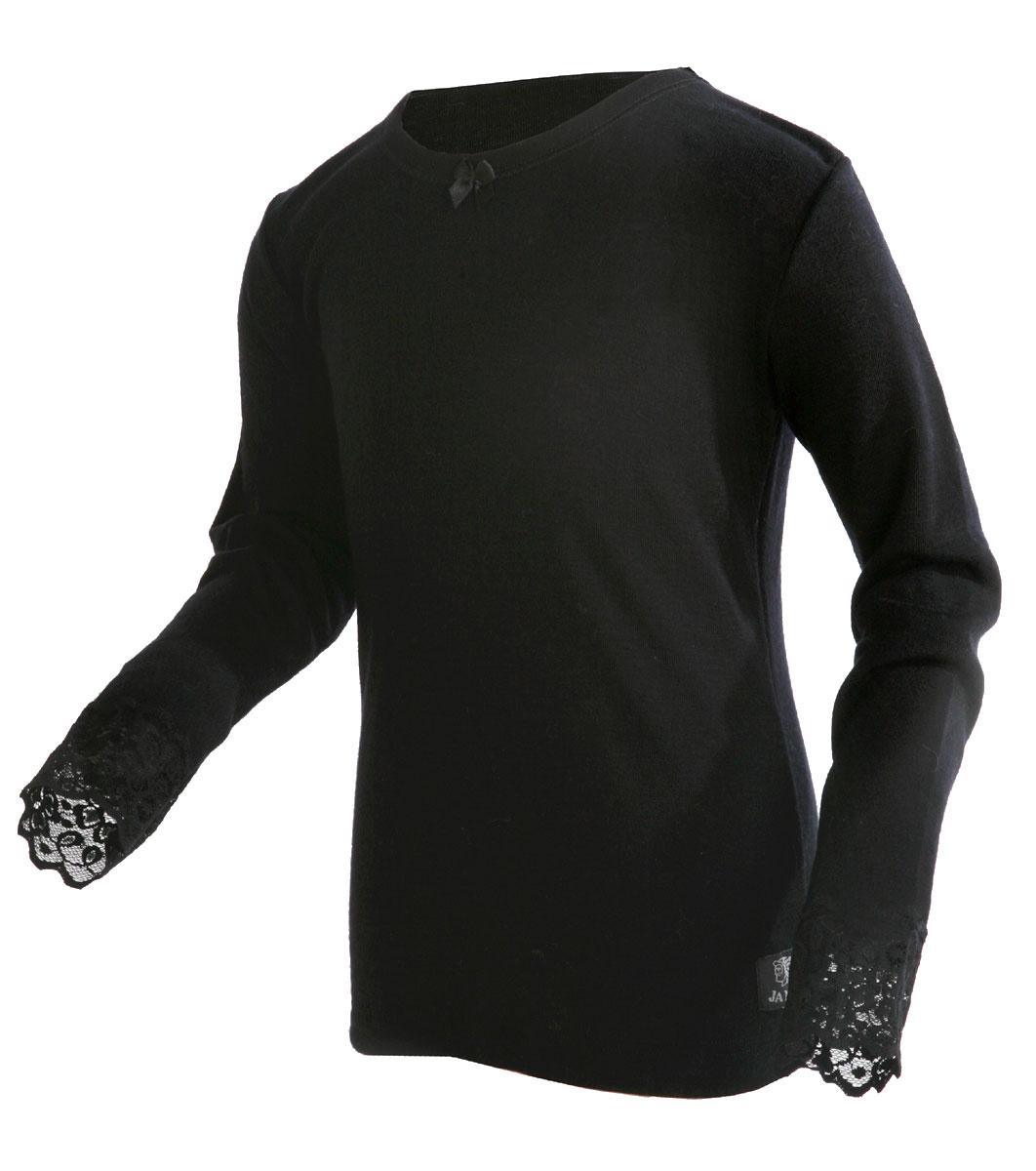 Janus barnull med spets tröja lång ärm svart