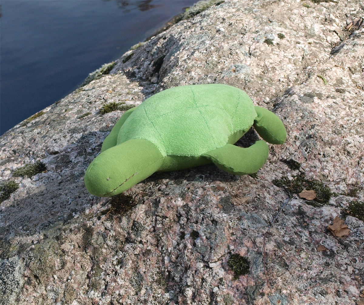 Havssköldpadda av ekologisk bomull Under the Nile