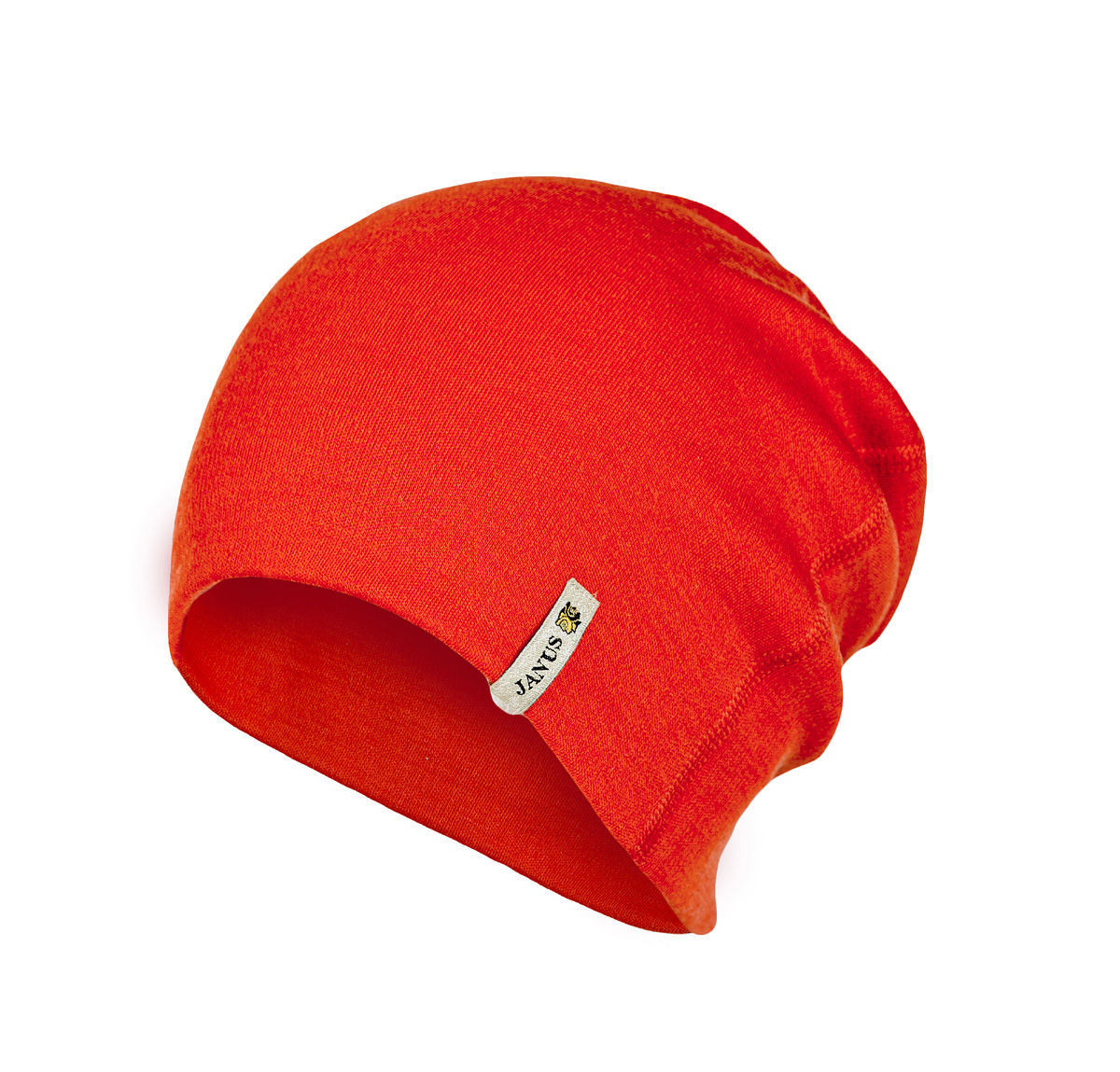 Janus beanie vuxen 100% merinoull orange one size