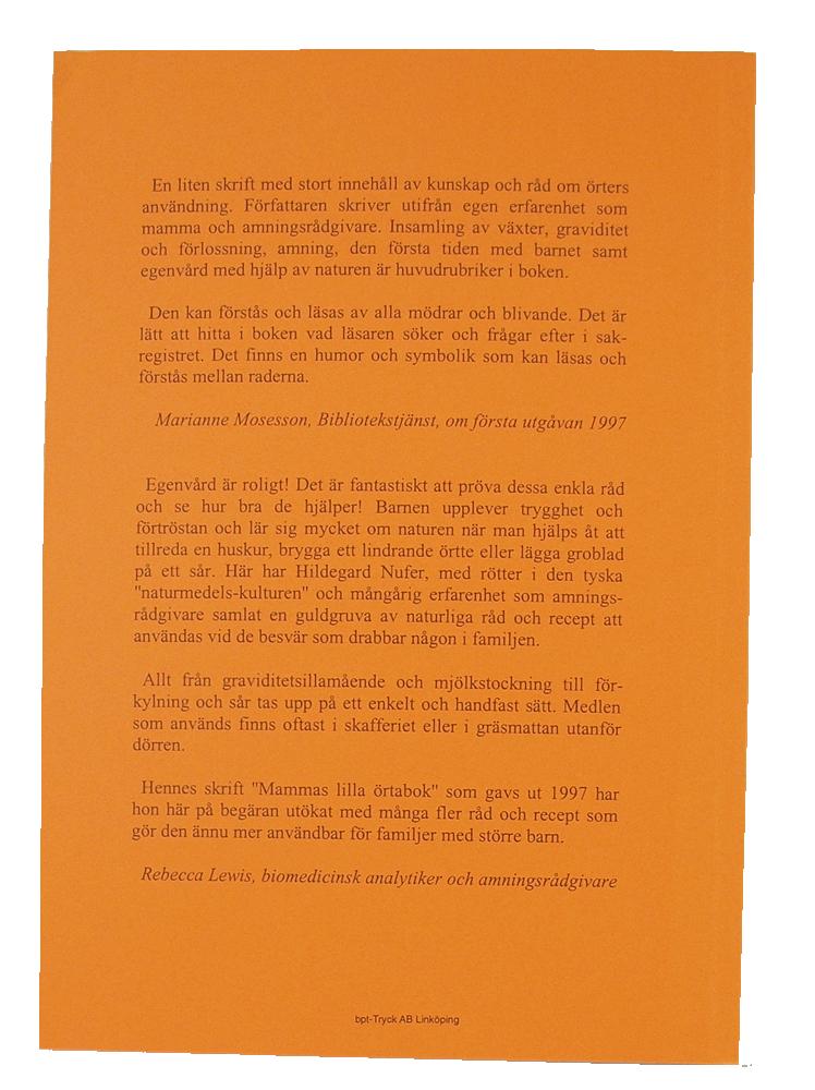 Mammas Örtabok egenvård för hela familjen Hildegard Nufer