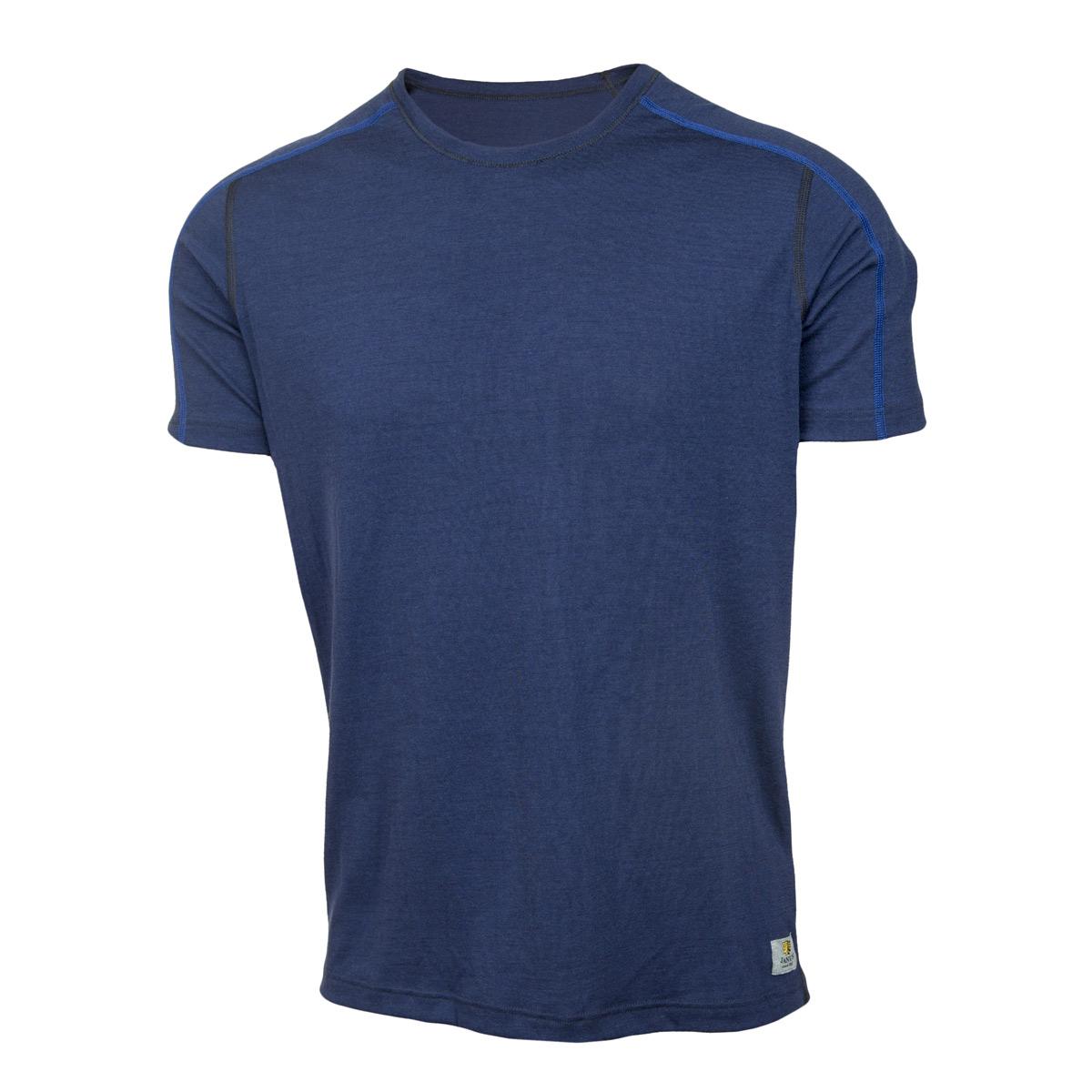 Janus LightWool herr t-shirt 100% merinoull marinblå