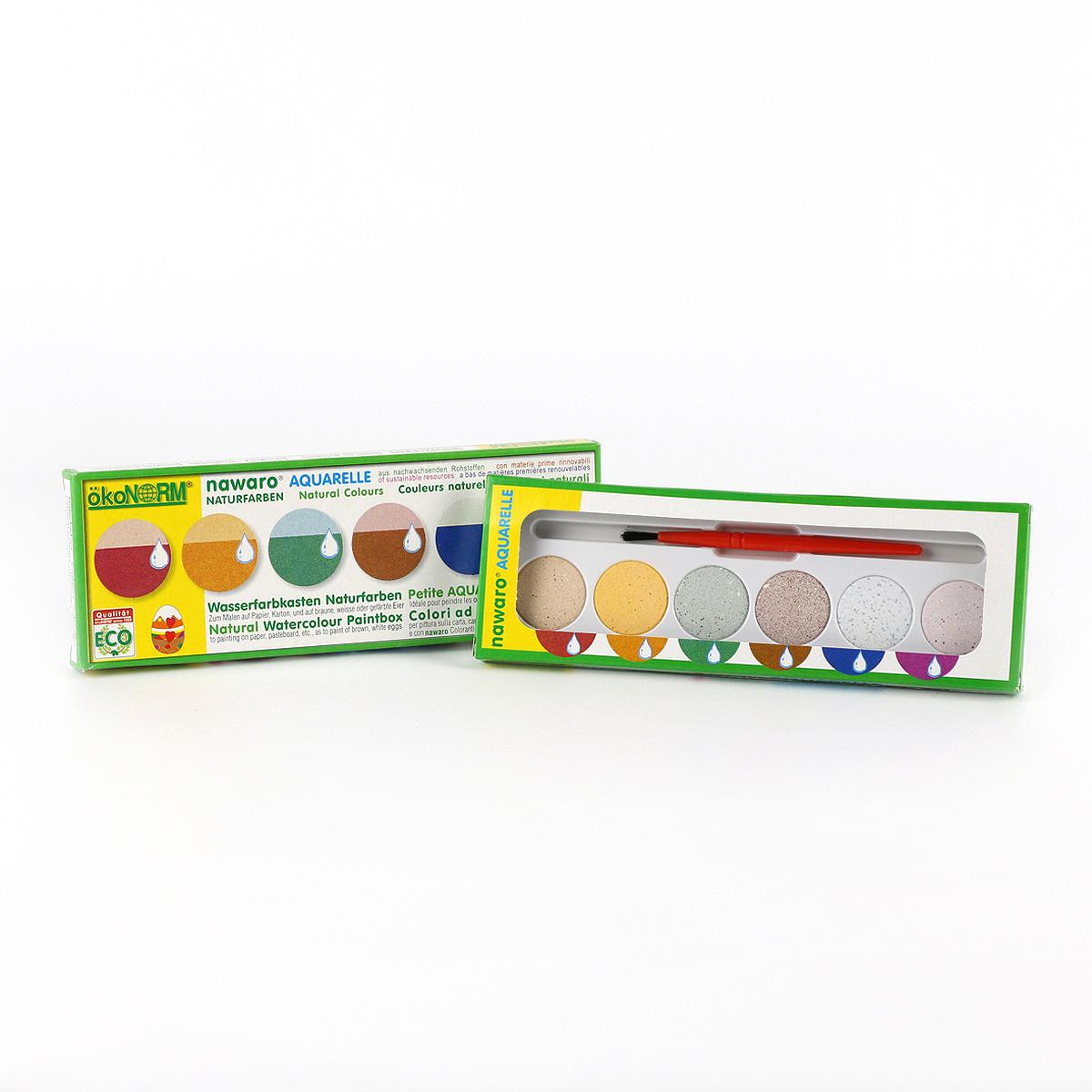 ÖkoNORM ekologiska vattenfärger, 6 färger