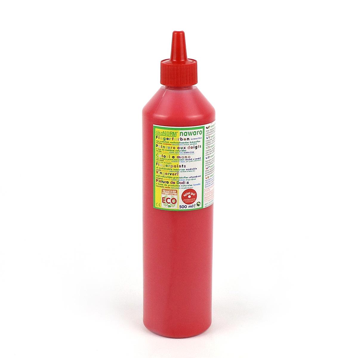 Ekologisk fingerfärg 500 ml röd ÖkoNorm