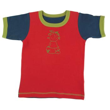 Tim&Teja t-shirt med tryck 100% ekologisk bomull ekologiskt färgad röd