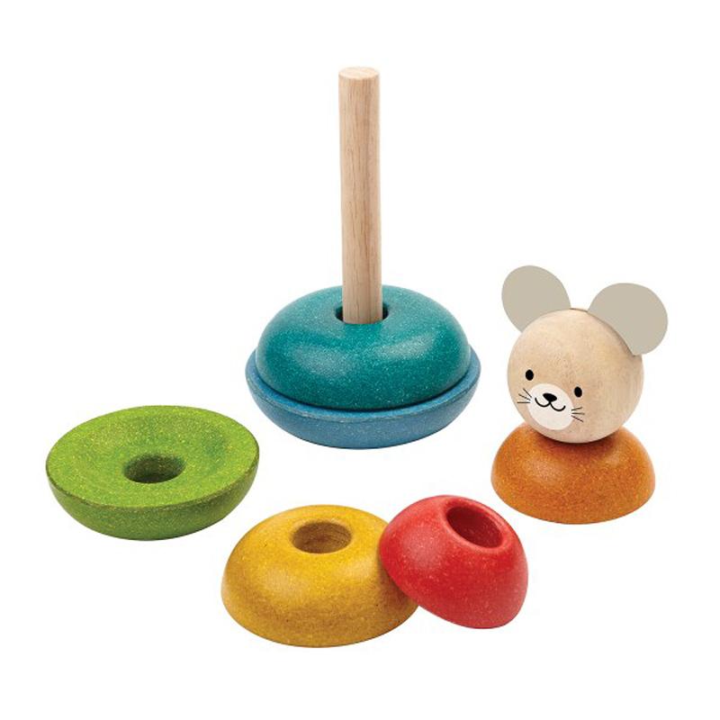 Stapelleksak Stacking Mouse från PlanToys tillverkad av PlanWood