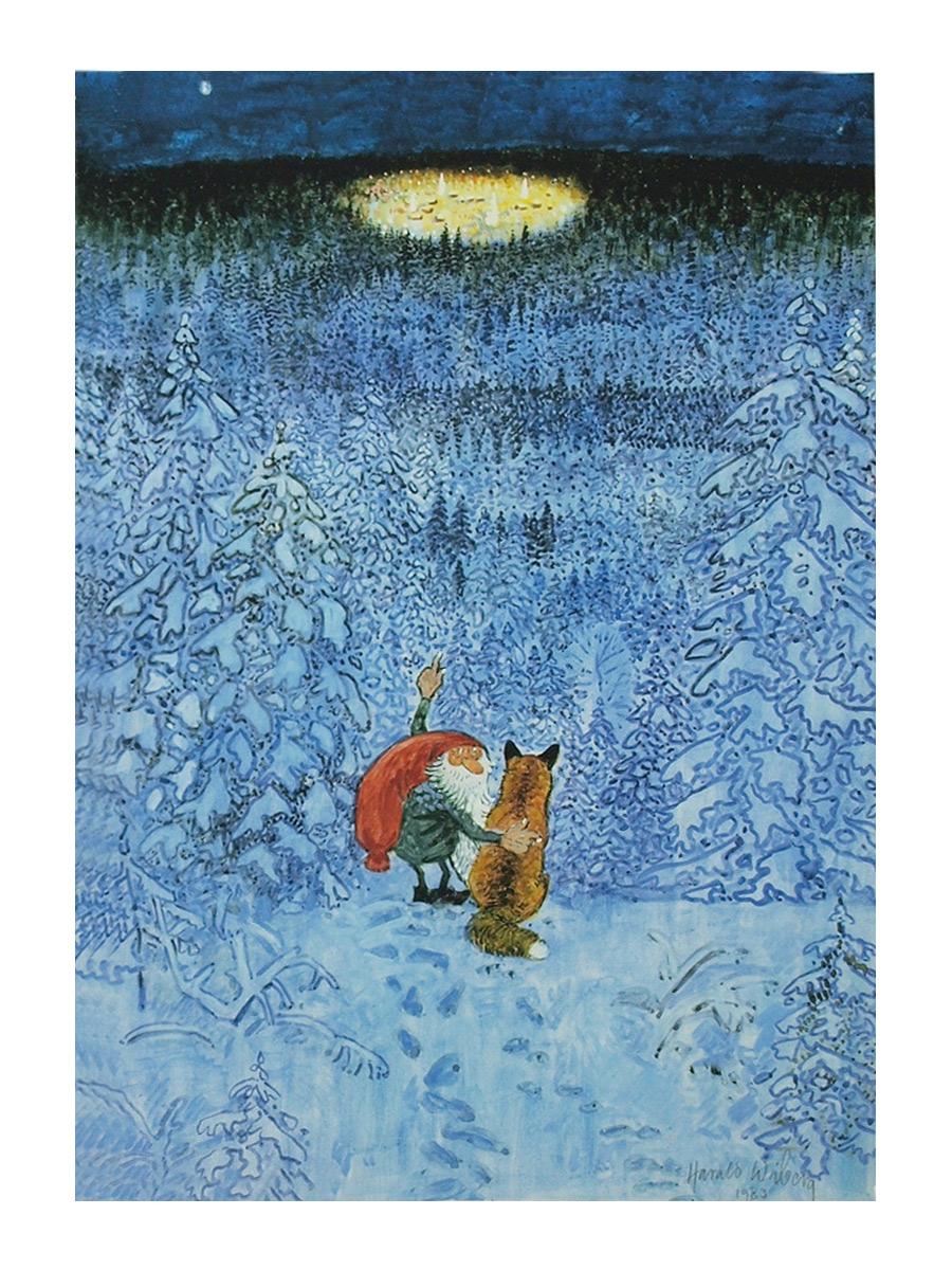 Stort julkort A4 Eviga julaftons by Harald Wiberg