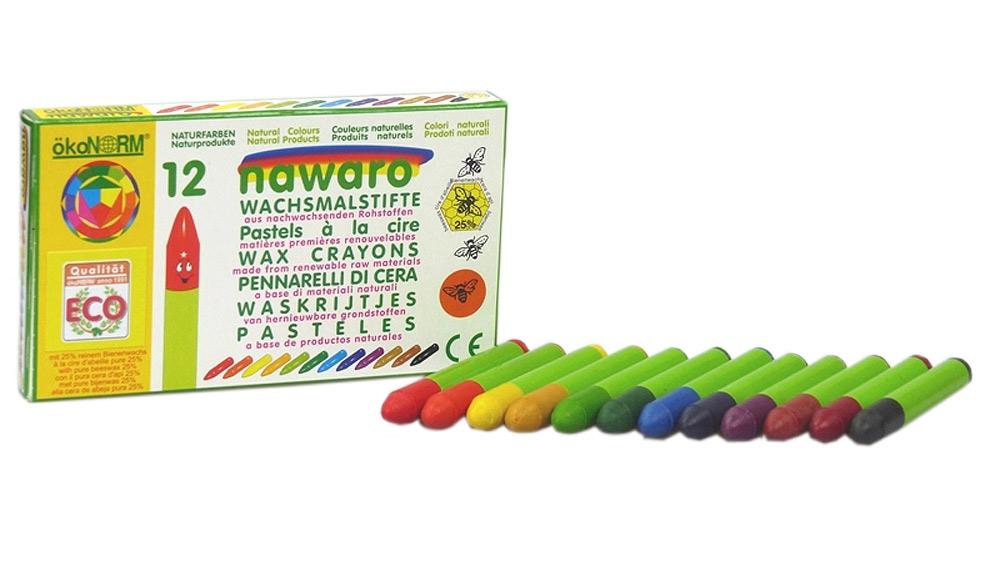 Ekologiska och giftfria bivaxkritor 12 färger ÖkoNorm
