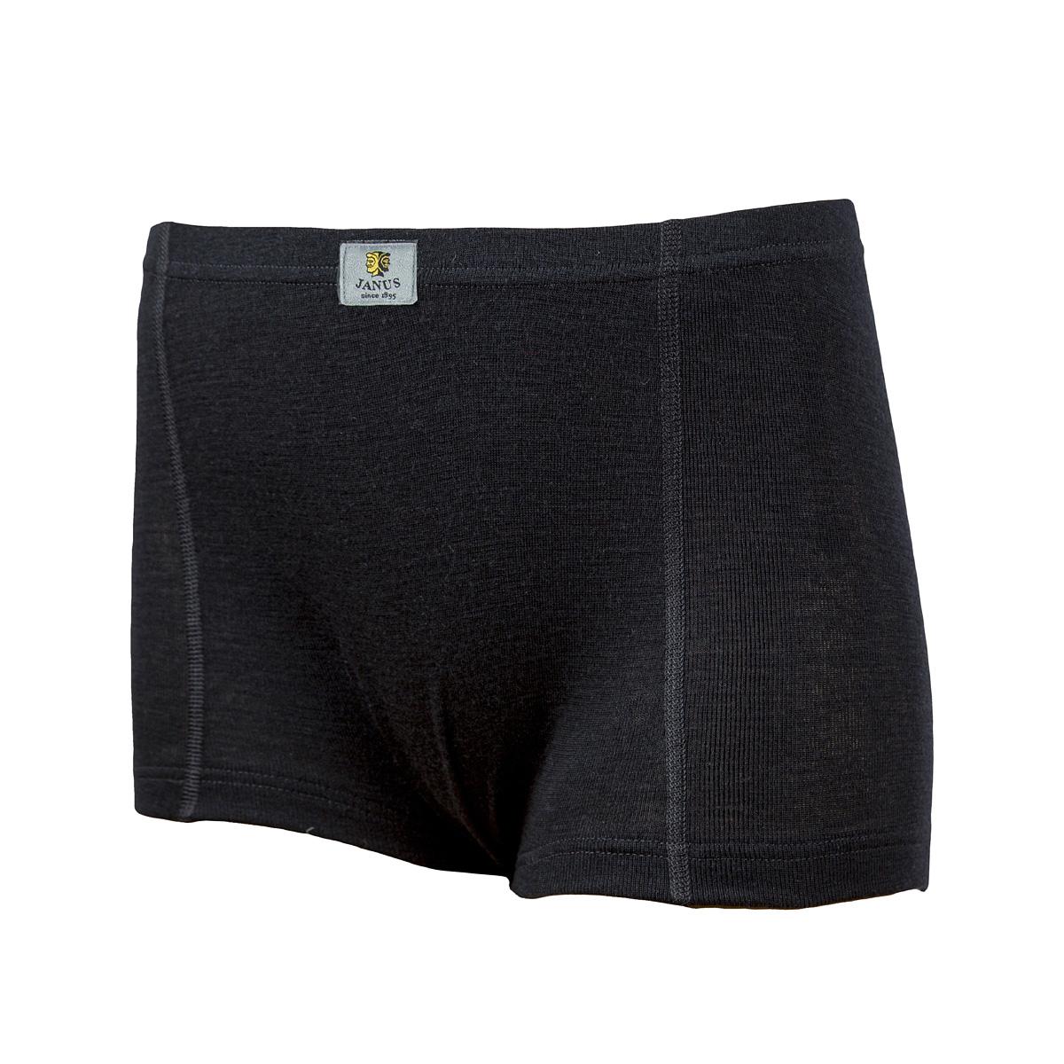 Janus dam boxer 100% merinoull svart