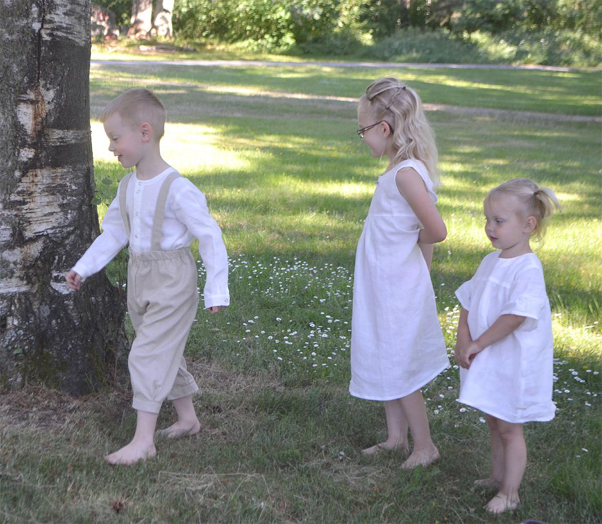 Minimundus barnkläder av 100% ekologiskt lin