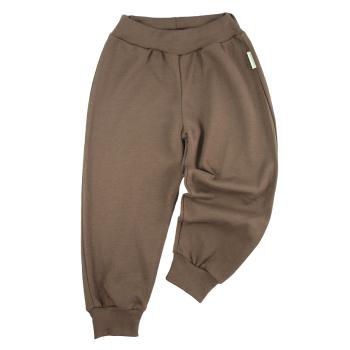 Tim&Teja joggingbyxor 100% ekologisk bomull ekologiskt färgad brun