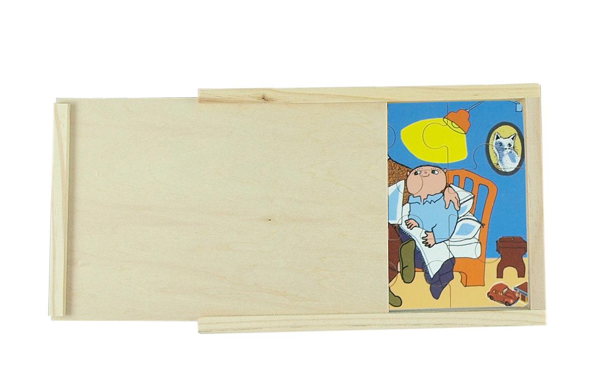 4 pussel i låda Alfons Åberg Hjelms
