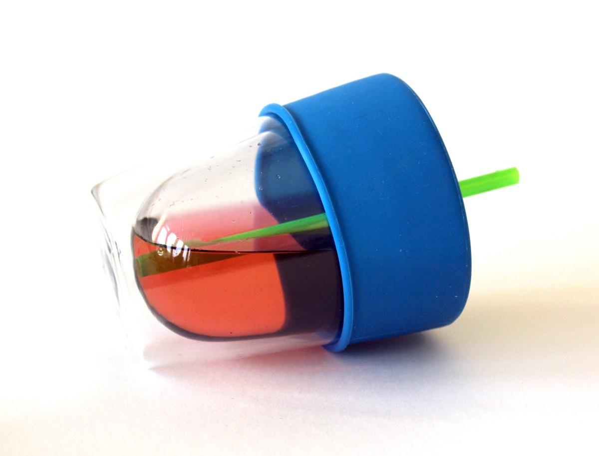 SipSnap KID läckagesäkert lock av silikon för sugrör blå