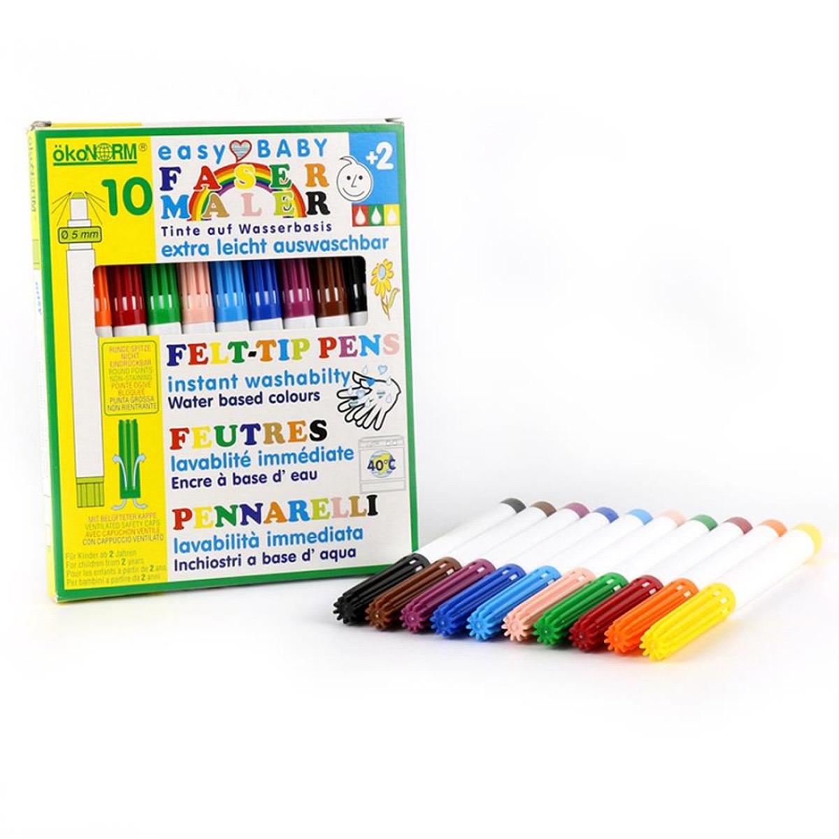 Ekologiska filtpennor för små barn ÖkoNorm