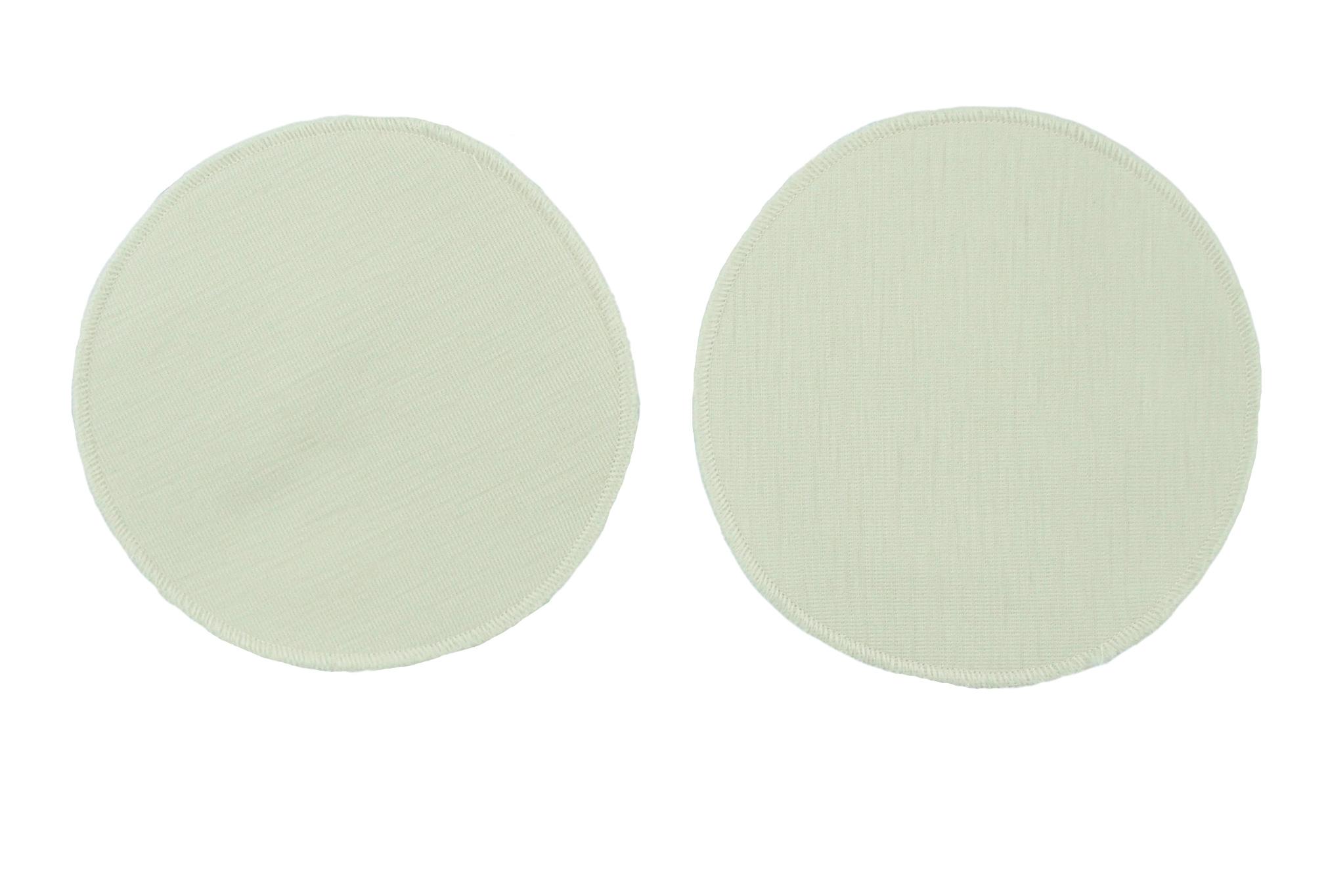 Minimundus bröstvärmare av 100% ekologisk ull och silke rund 14 cm i diameter