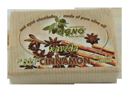 Olivtvål 100g med kanel från Agno