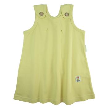 Tim&Teja hängselklänning baby 100% ekologisk bomull ekologiskt färgad gul