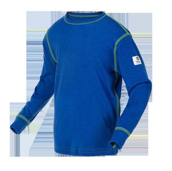 Janus Kids Basic Wool ulltröja 100% merinoull blå