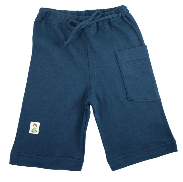 Tim&Teja shorts av 100% ekologisk bomull ekologiskt färgad marinblå