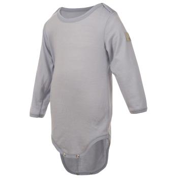 Janus LightWool baby body 100% merinoull gråblå