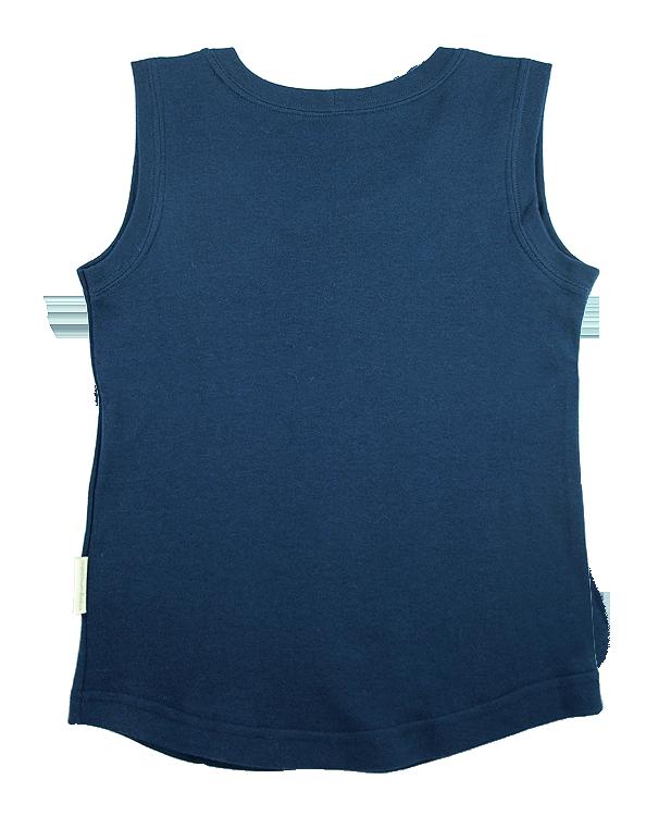 Tim&Teja linne 100% ekologisk bomull ekologiskt färgad marinblå