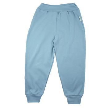 Tim&Teja joggingbyxor 100% ekologisk bomull ekologiskt färgad ljusblå