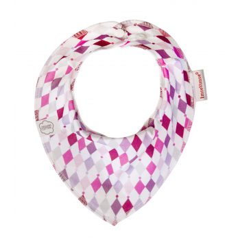 Dregelscarf bandana haklapp ekologisk bomull Pink diamond ImseVimse