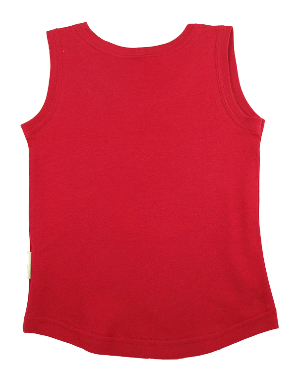 Tim&Teja linne 100% ekologisk bomull ekologiskt färgad röd