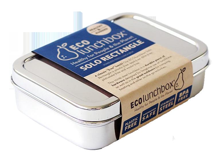 ECOLunchbox matlåda Solo Rektangle rostfritt stål 850 ml