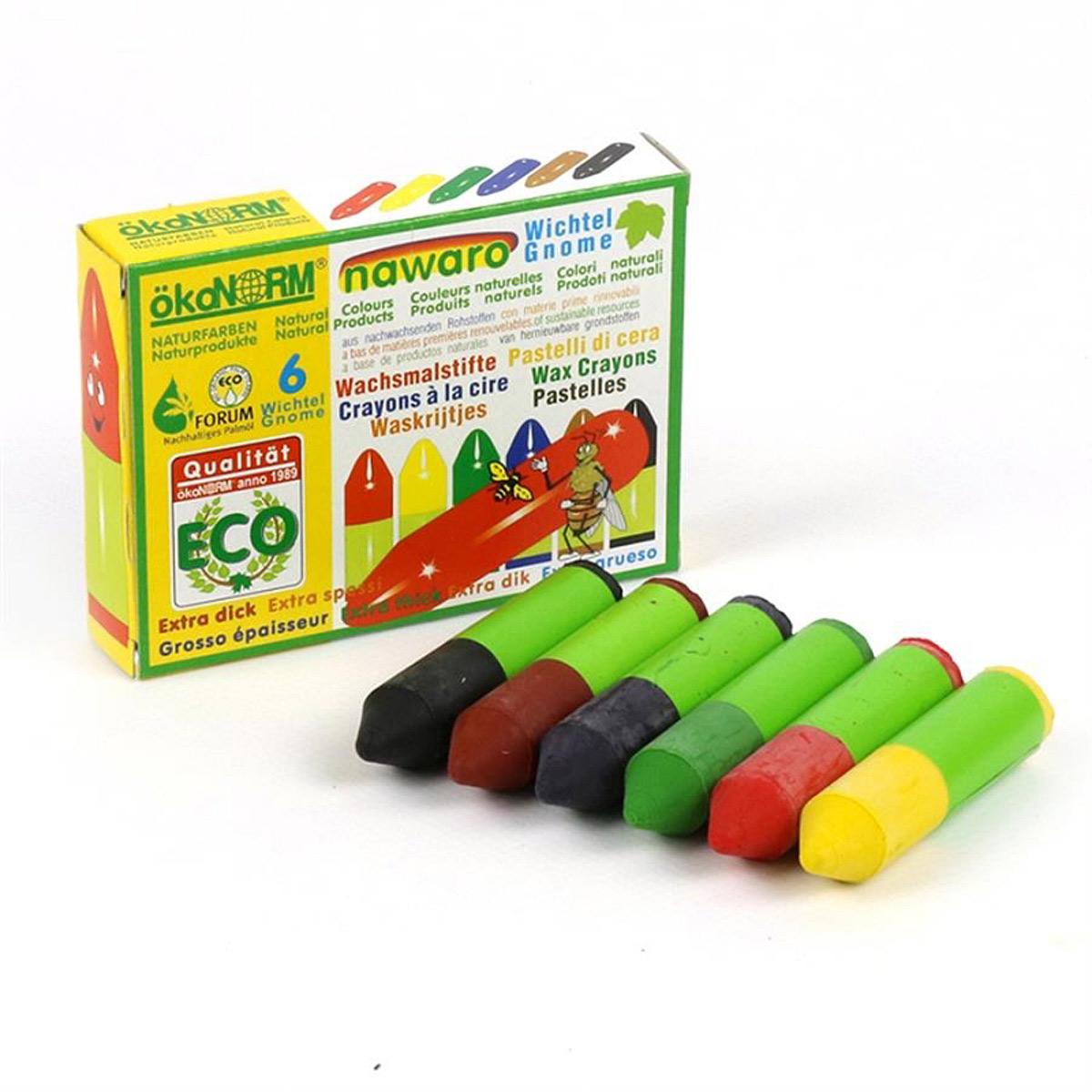 Ekologiska och giftfria bivaxkritor för tyg 6 färger ÖkoNorm