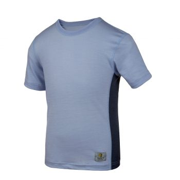 Janus LightWool barn t-shirt 100% merinoull ljusblå