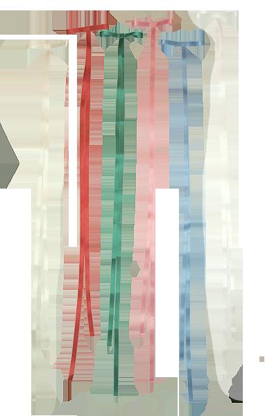 Bandrosett till dopklänning creme röd grön rosa ljusblå vit