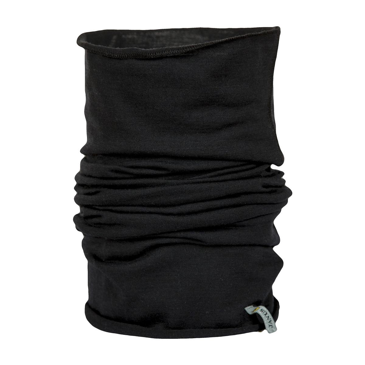 Janus LightWool vuxen halsduk neckwarmer 100% merinoull svart