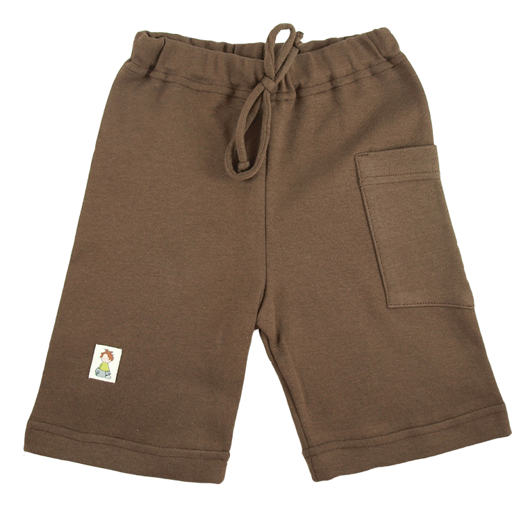 Tim&Teja shorts av 100% ekologisk bomull ekologiskt färgad brun