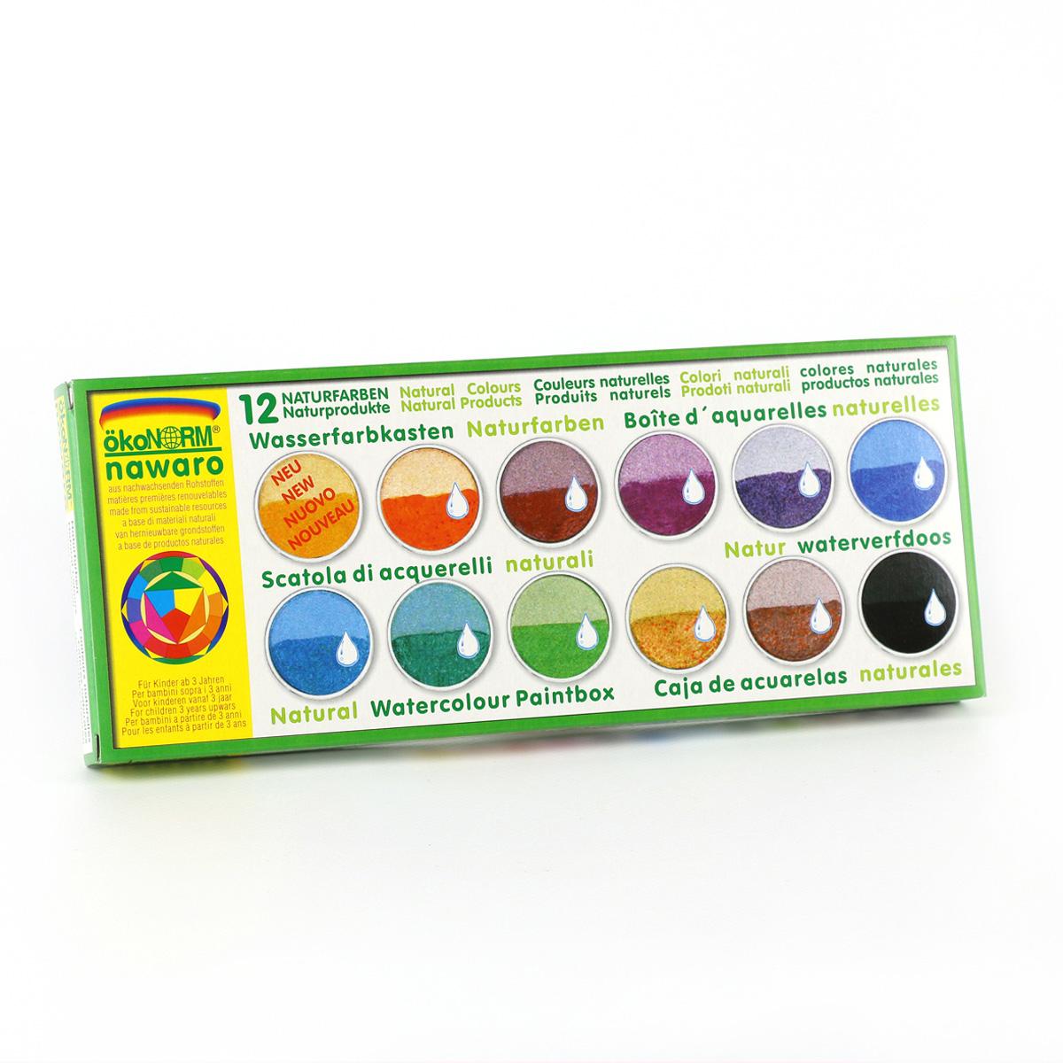 ÖkoNORM ekologiska vattenfärger 12 färger