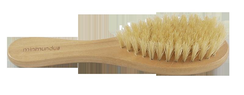 Minimundus hårborste björkträ med mjuk svinborst