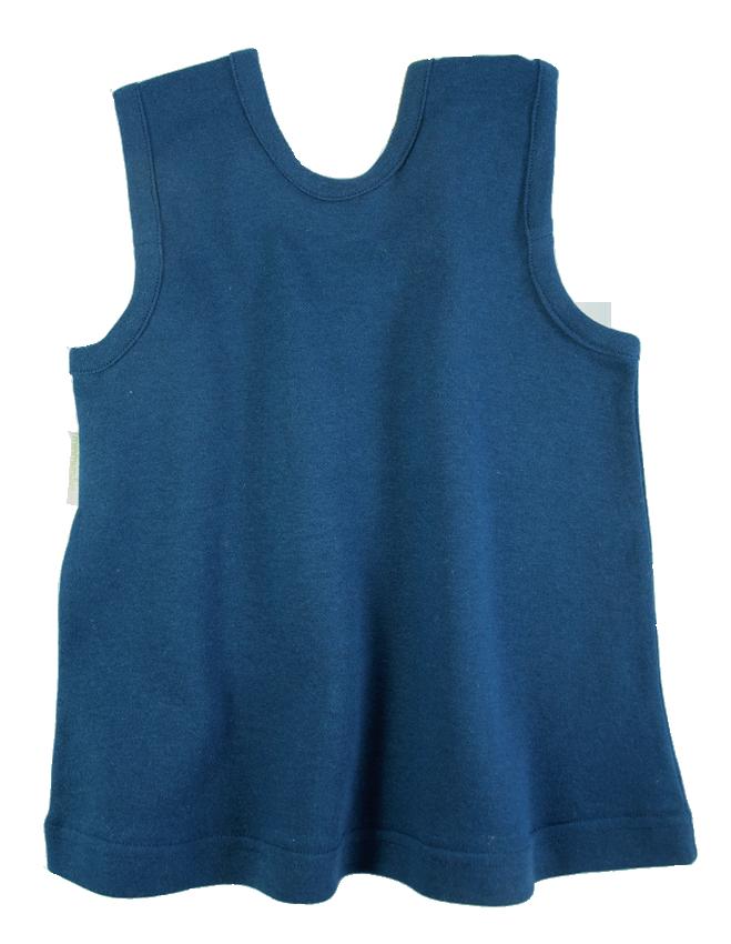 Tim&Teja babyklänning 100% ekologisk bomull ekologiskt färgad marinblå